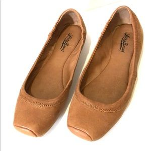 Lucky Brand | Leather Brown Ballerina Flats Sz 8